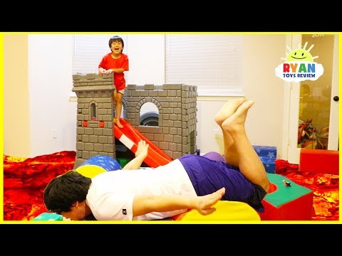 The Floor is Lava Challenge Pretend Playtime with Ryan ToysReview!