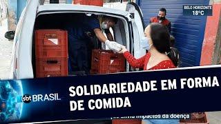 Doações de alimentos e refeições aliviam impactos da Covid-19 | SBT Brasil (22/05/20)
