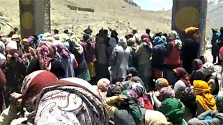 Tribal women of Spiti Valley protested lockdown violation by Himachal Pradesh Minister - IANSLIVE