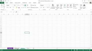 Microsoft Excel 2013 Tutorial - 7 - Worksheet Tips