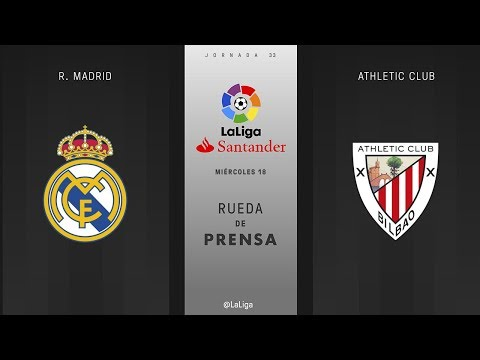 Rueda de prensa R. Madrid vs Athletic Club