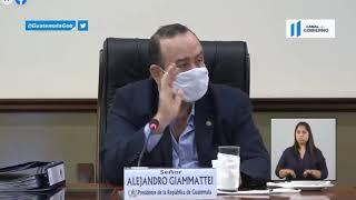 Alejandro Giammattei habla de la responsabilidad de la gente en la lucha contra el Covid-19