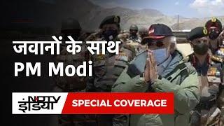 जवानों के बीच पहुंचे PM Modi का 'वंदेमातरम के नारों' से हुआ स्वागत - NDTVINDIA