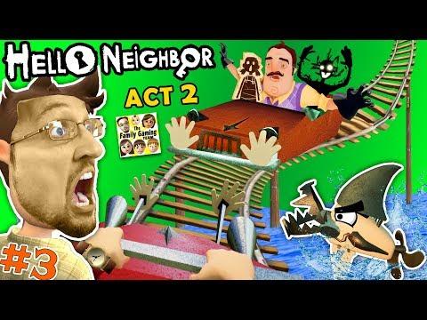connectYoutube - ESCAPE HELLO NEIGHBOR PRISON: FGTEEV ACT 2 - Roller Coaster, Shark & Doll House (Full Game Part 3)