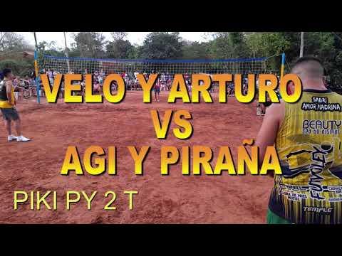 Piki py 2 T. Velo y Arturo Vs Agi y Piraña. FUTVOLEY. FOOTVOLLEY. FUTEVOLEI.