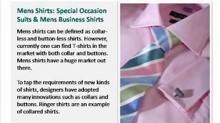 Mens Shirts: Special Occasion Suits and Mens Business Shirts