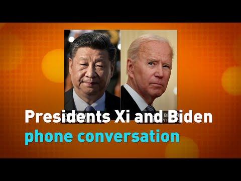 Presidents Xi and Biden phone conversation