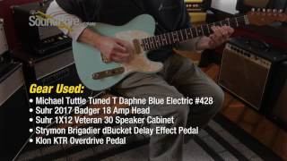 Michael Tuttle Tuned T Daphne Blue Electric #428 Quick n' Dirty