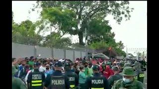 Incrementa la tensión en frontera norte por nicaragüenses que no pueden regresar a su país