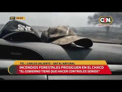 Incendios forestales prosiguen en el Chaco