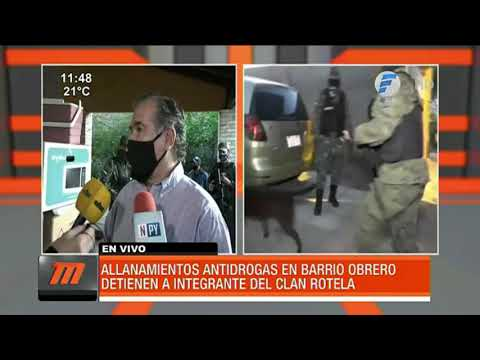 Duro golpe al clan Rotela en Asunción