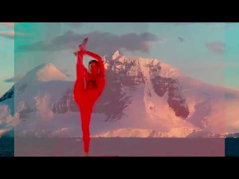 Contortion act on Arctic background