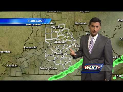 Cooler with showers Monday