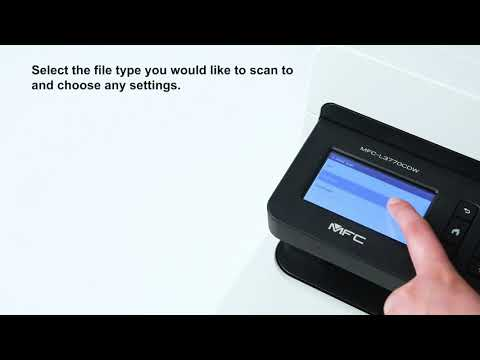 Brother UK - How to easy scan to email
