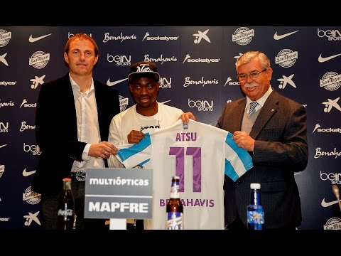 Watch the unveiling of Christian Atsu as Malaga player at press conference