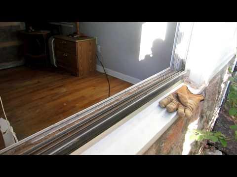 Replace Aluminum Window Glass Pane and Remove vinyl strip snap-in glazing Bead - plexiglass
