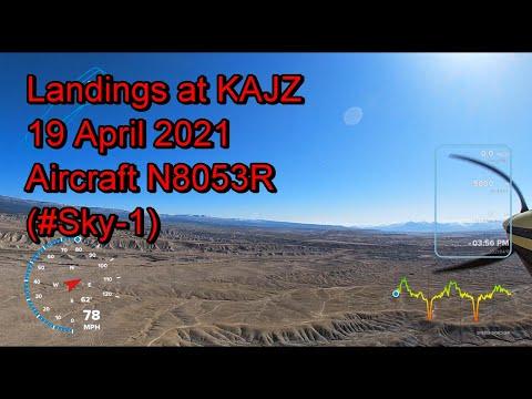 Landings at KAJZ, 19 April 2021 (#Sky 1)