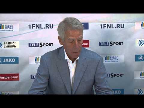 Пресс-конференция \Томь\ - \Байкал\ (Иркутск)