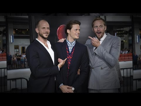 connectYoutube - Alexander Skarsgard Scares His Brother Bill at 'It' L.A. Premiere