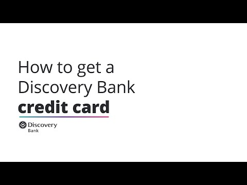 How to get a Discovery Bank credit card