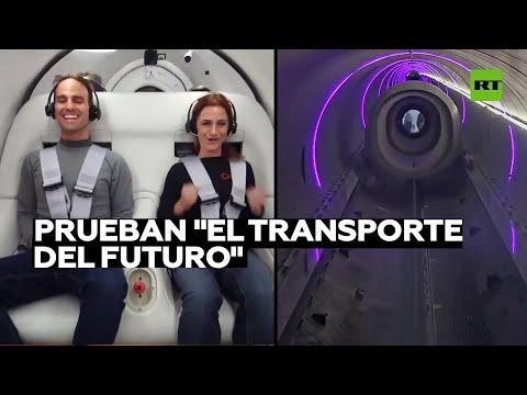 El transporte del futuro: Virgin Hyperloop realiza la primera prueba con pasajeros