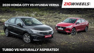 🚗 Honda City 2020 vs Hyundai Verna Automatic Comparison Review | Settled Once & For All! | Zigwheels