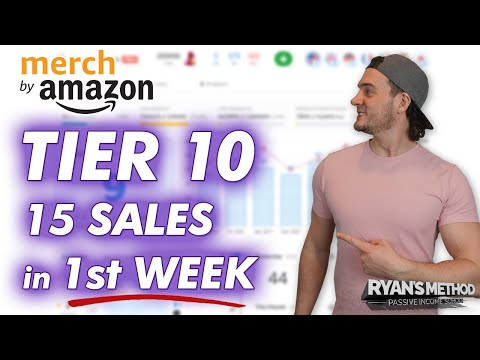Amazon Merch Story: 15 Sales in 1-Week (WHILE IN TIER 10!!)