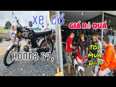 moto cổ nhiều dòng mới về – có HonDa 67, và môtô mini giá rẻ.bình dương |