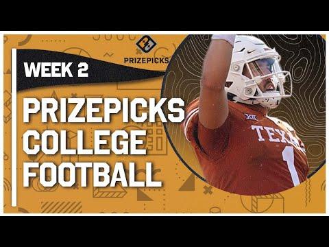 Week 2 CFB DFS Picks & PrizePicks Top College Football Plays   Hudson Card & Will Rogers