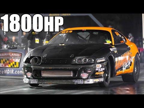 1800HP Stick Shift Supra Almost Wrecks (AMAZING SAVE!)- Fastest Manual Supra EVER