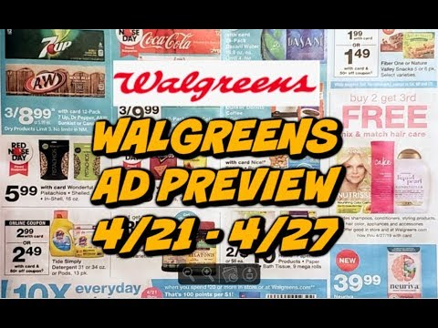 WALGREENS AD PREVIEW 4/21 - 4/27 | FREE TOOTHPASTE & MAKEUP DEALS