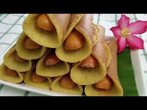 ขนมโตเกียวไส้กรอก-แป้งเนื้อนุ่