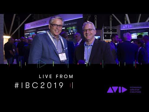 #AVID #IBC2019 LIVE ⏩ Microsoft's Bob de Haven visits the Avid booth at IBC 2019 in Amsterdam