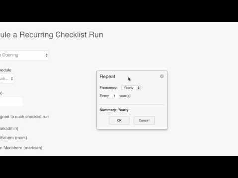 Schedule a Recurring Checklist