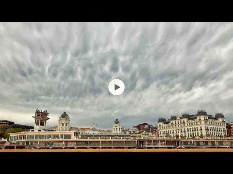 El cielo del Sardinero a las 8,30 de la mañana