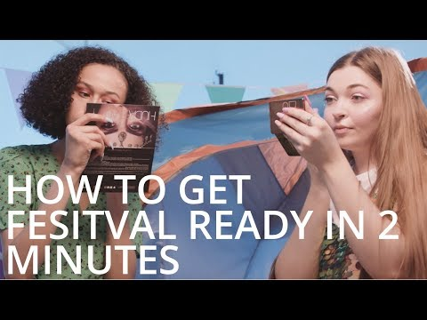 feelunique.com & Feel Unique Discount Code video: How To Get Festival Ready In 2 Minutes  Feelunique