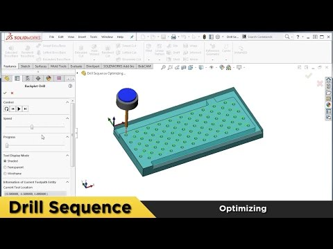Drill Sequencing - What's New in BobCAM for SOLIDWORKS™