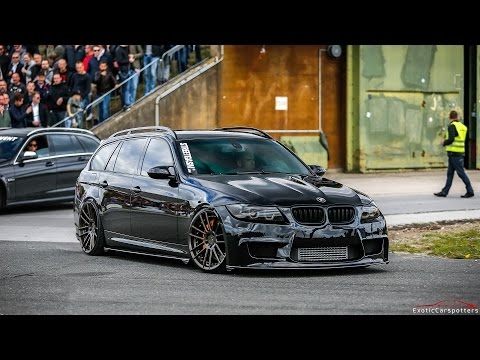 900HP BMW 335i E91 Touring - HUGE Burnouts, Drag Races & Accelerations !