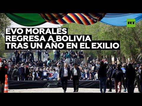 Evo Morales regresa a Bolivia después de un año en el exilio
