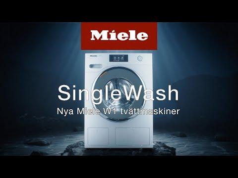 Nya Miele W1 tvättmaskiner | SingleWash | Miele