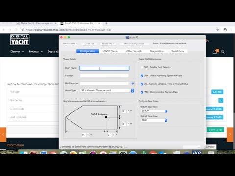 Configuration Transpondeur AIS avec ProAIS2