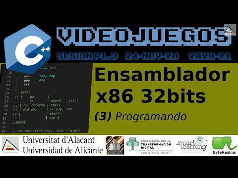C++ : Programando en ensamblador x86 de 32 bits. Primeros pasos. #Videojuegos #UA [ SP1.3 2020 ]