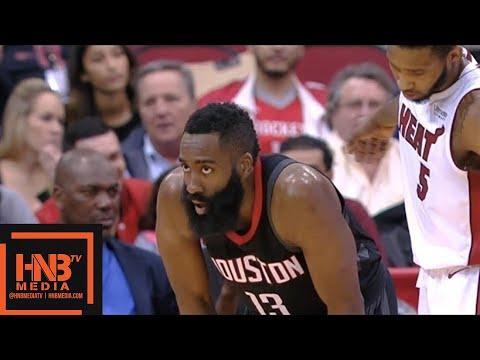 Houston Rockets vs Miami Heat 1st Half Highlights / Jan 22 / 2017-18 NBA Season