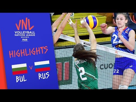 BULGARIA vs. RUSSIA - Highlights Women | Week 4 | Volleyball Nations League 2019