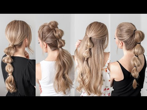 4 BUBBLE BRAIDS | EASY HAIRSTYLES