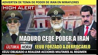EEUU forzado a actuar Maduro cede el poder a Iran