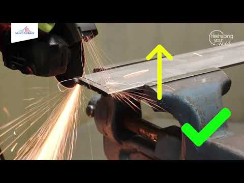 How to cut straight and efficiently with an angle grinder