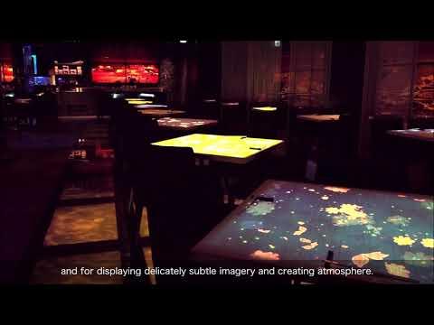 Epson LightScene projectors' customer story: Nazuki Seafood Restaurant, Tsukiji, Japan