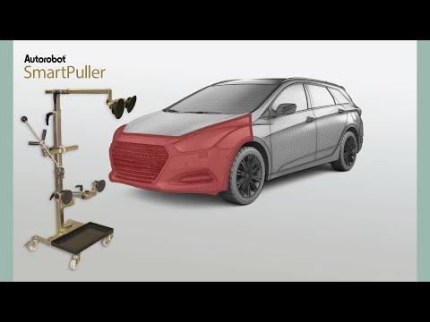 Autorobot SmartPuller - Dent pulling of vehicle front