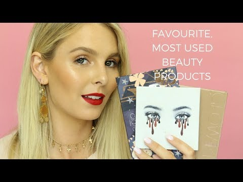 MY FAVOURITE, MOST USED BEAUTY PRODUCTS IN 2017 | RACHAEL BROOK